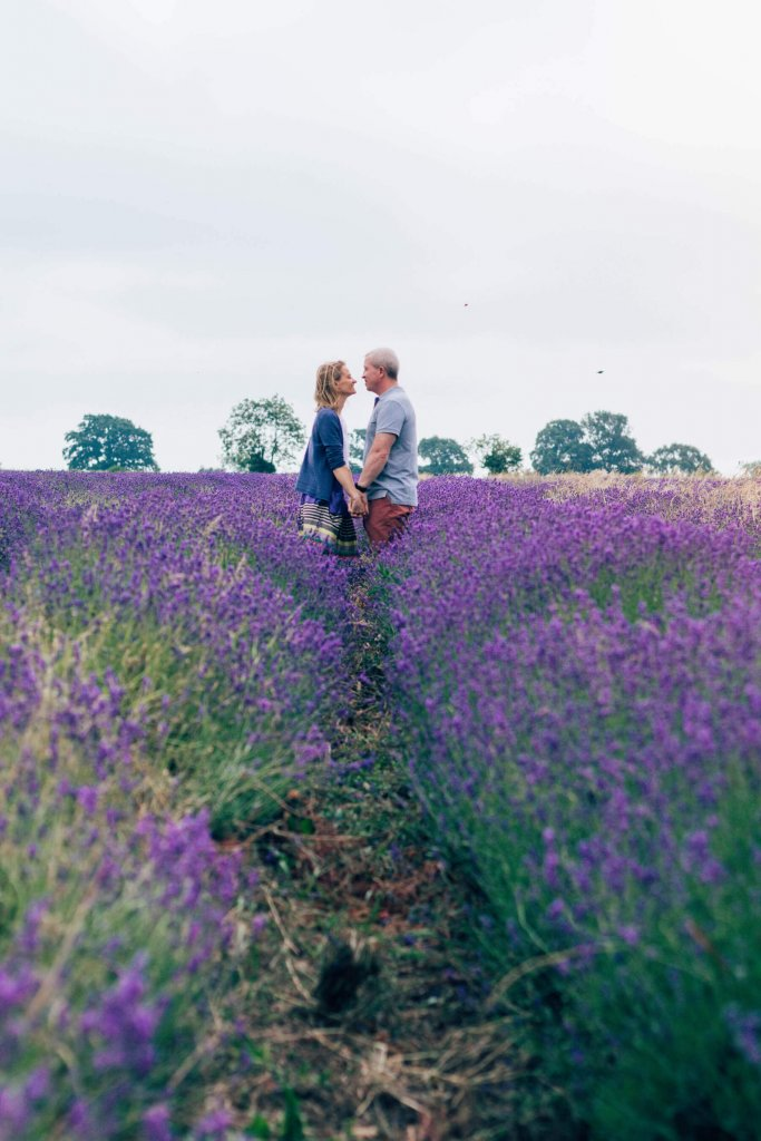 couple in lavender fields wedding photography