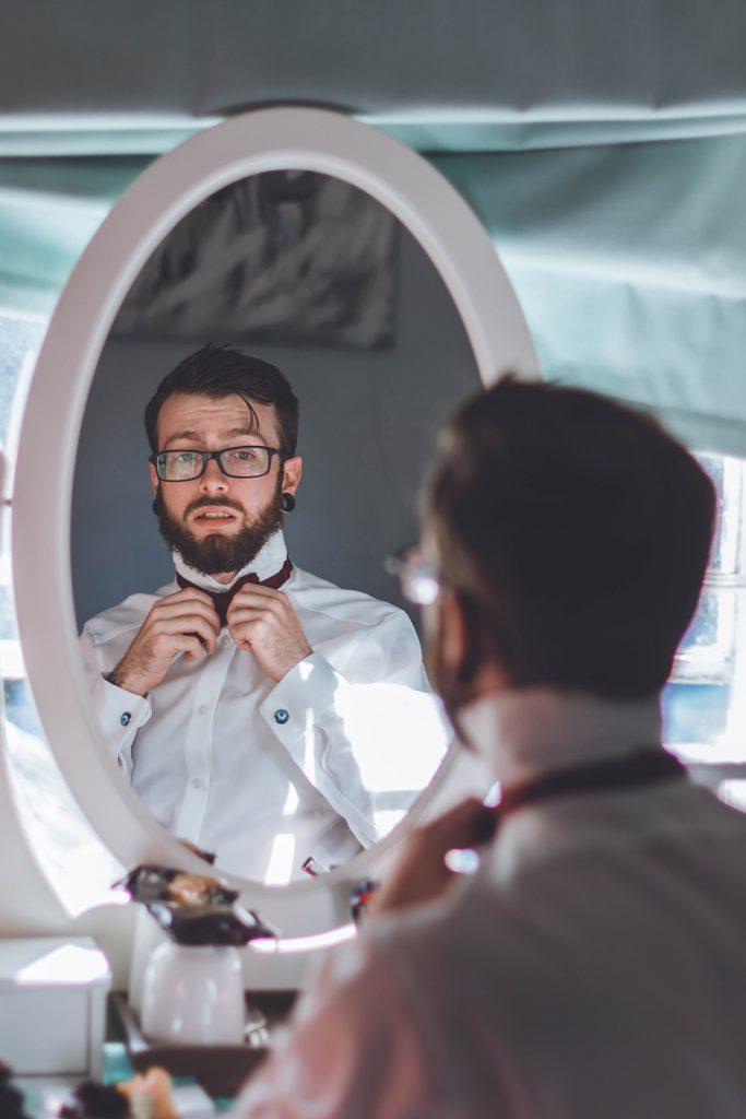 Final preparations at Wiltshire Wedding