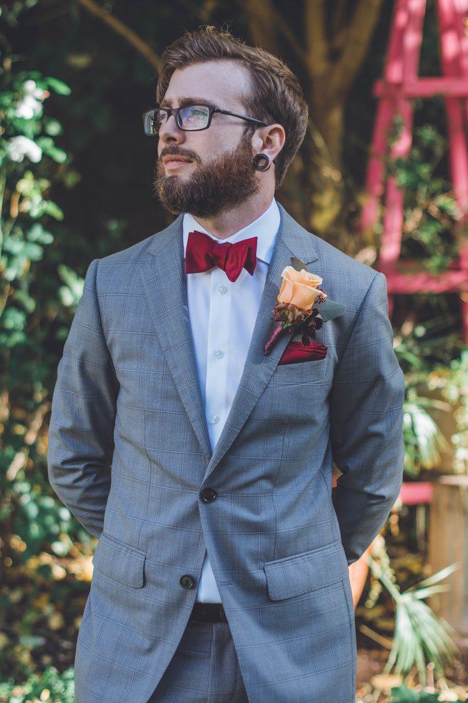 Groom at Wiltshire Wedding