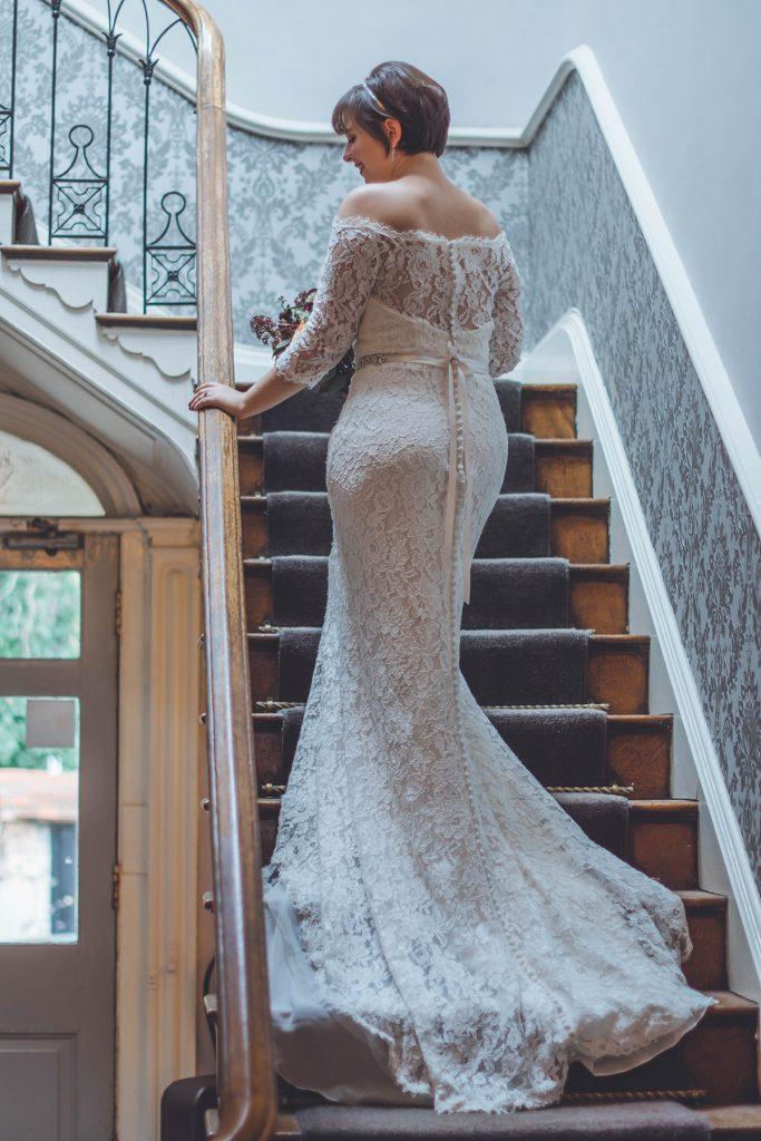 Bride at Wiltshire Wedding