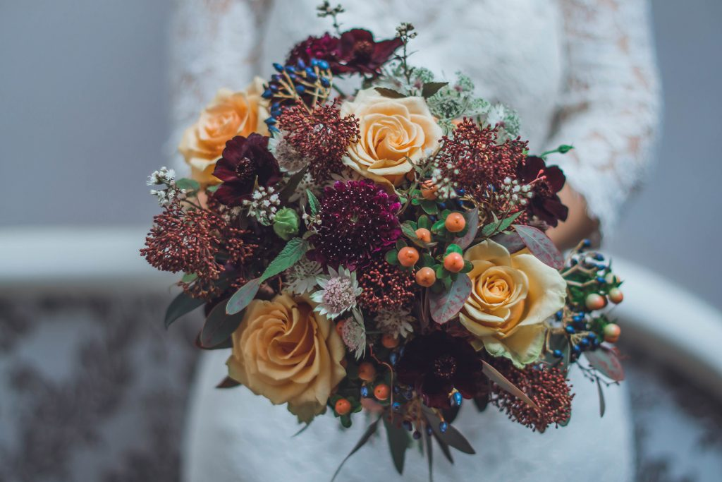 Flowers at Wiltshire Wedding