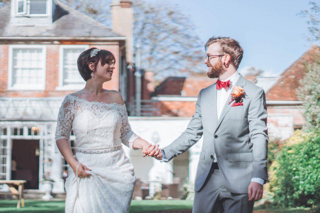 Bride and Groom at Wiltshire Wedding