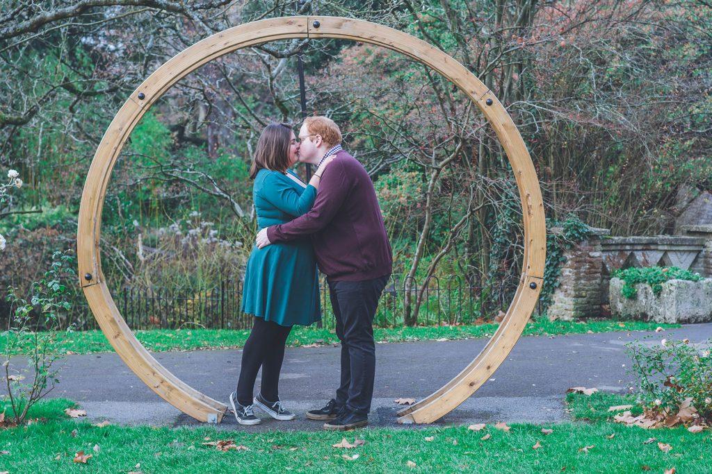 Bath Botanical Gardens engagement photos